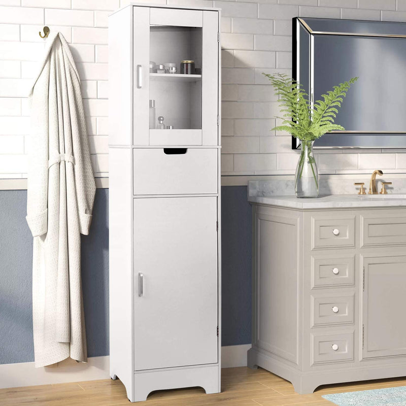 Bathroom Storage Cabinet Shelve Free-standing