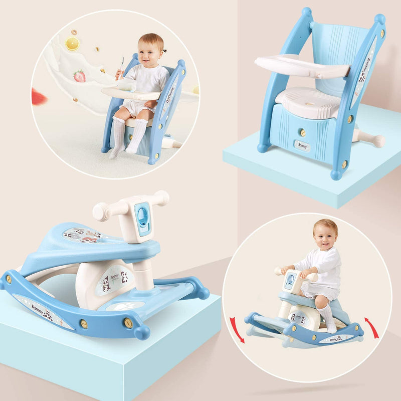 [Out of Stock] Toddler Rocking Chair Portable & Dinning Chair 2-in-1 w/ Music & Light