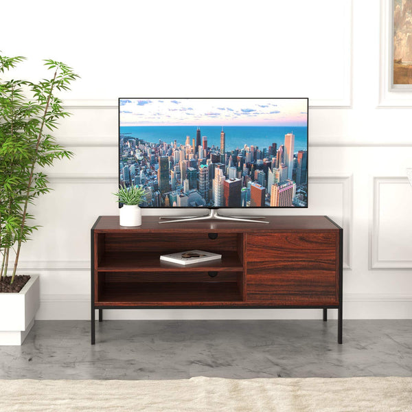 IRONCK retro TV Stand | with Cabinet 2 Shelves