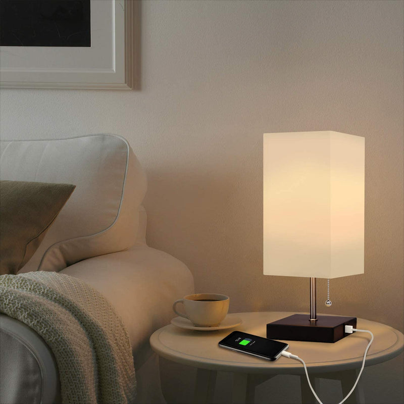 Table Lamp with USB Charging Ports