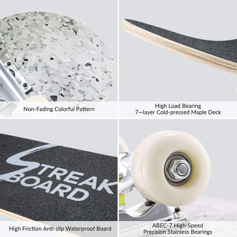 31'' x 8'' Double Kick Concave Skateboard