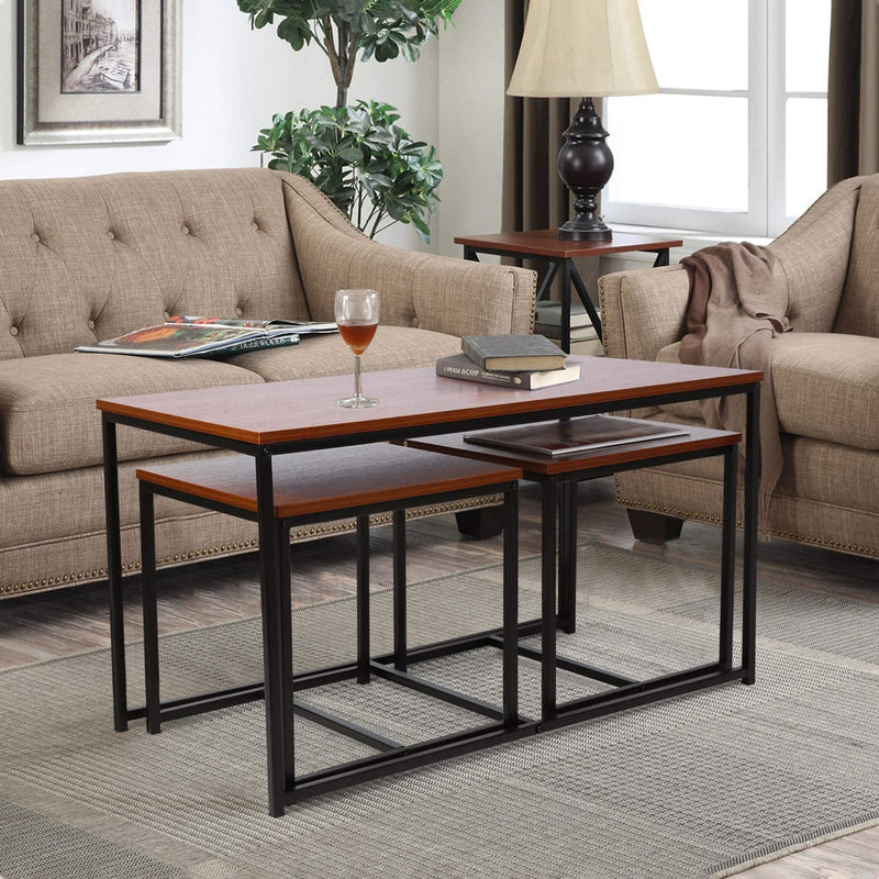 Living Room Table Set Coffee Table End Tables Set of 3