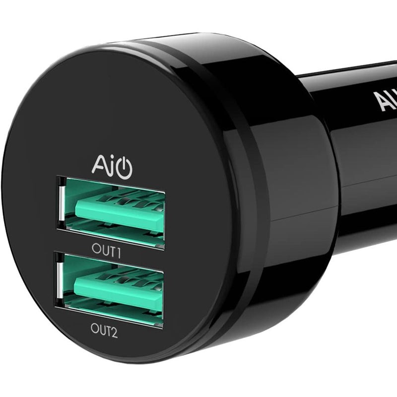 AUKEY USB Car Charger, Dual Port 24W/4.8A Output [3 Pack] - KeeyPon
