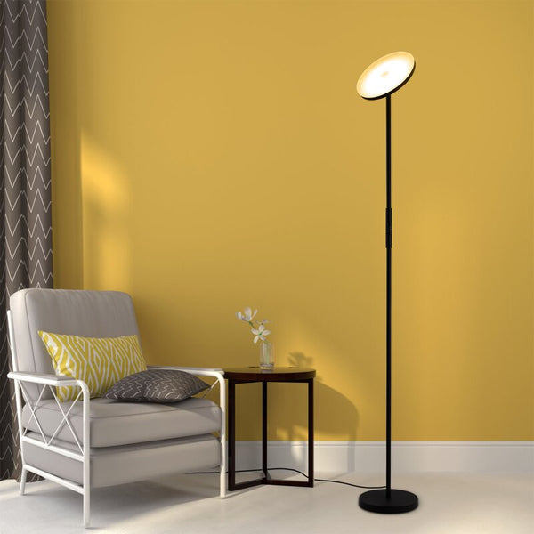 LED Torchiere Floor Lamp#color_Black