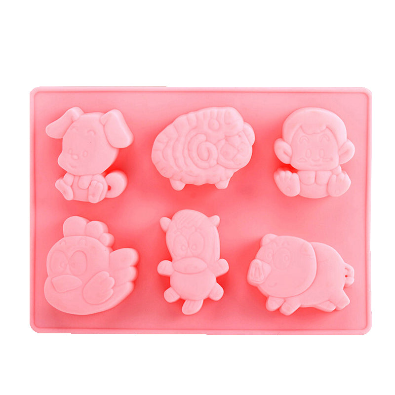 12 Party Animals - Cake/Ice Cube/Jelly/Soap Making Mould十二生肖模具 - Hantastic Kids