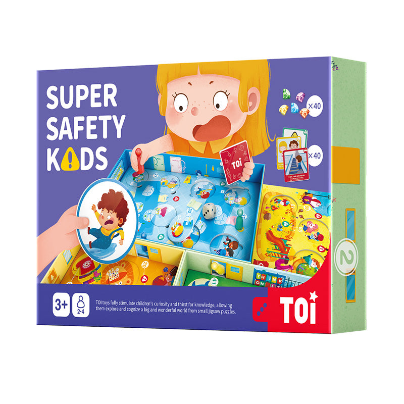 Super Safety Kids Bilingual Board Game 安全小达人 儿童安全意识桌游早教 - Hantastic Kids