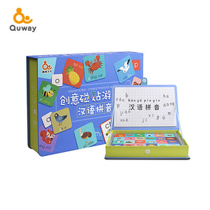 Magnetic Pinyin Puzzle (Fridge Magnet)创意磁贴拼音游戏盒 - Hantastic Kids