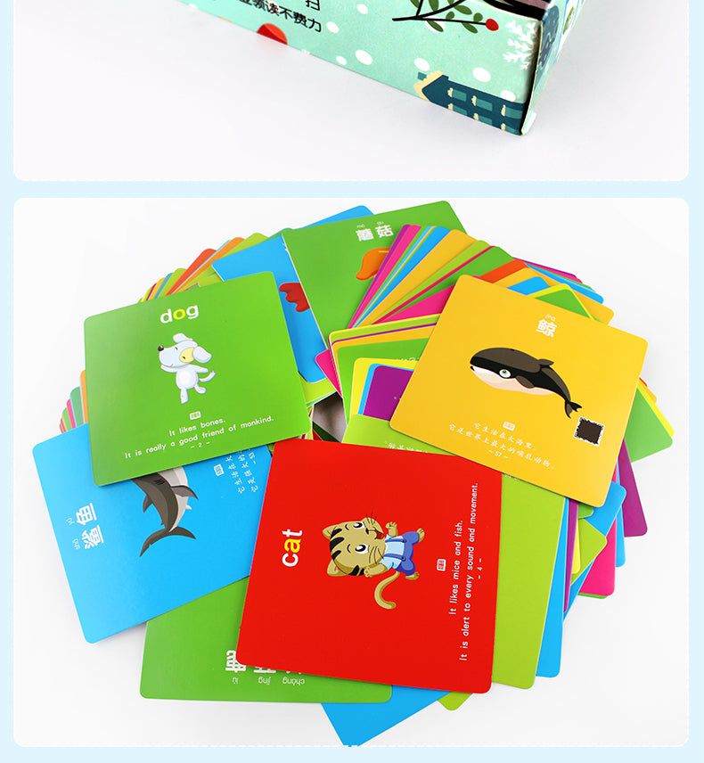 I'm A Flash Card Baby Cognitive Cards with Audio 宝宝启蒙双语有声识字卡| bilingual - Hantastic Kids