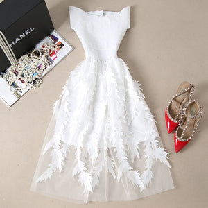 Off The Shoulder Dress Swan Feathers