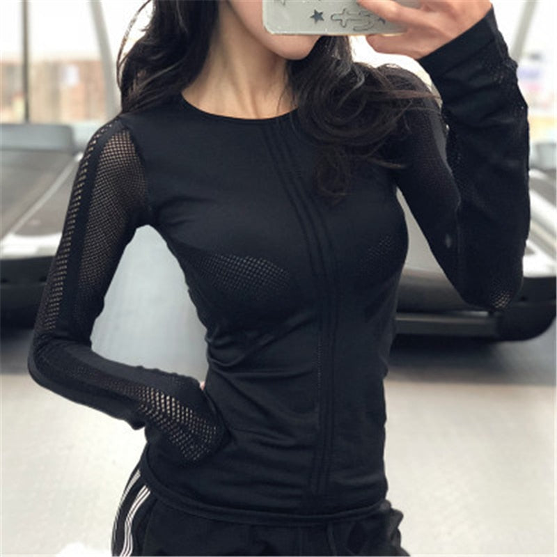 Ladies Long Sleeve Athletic Warm Up Top