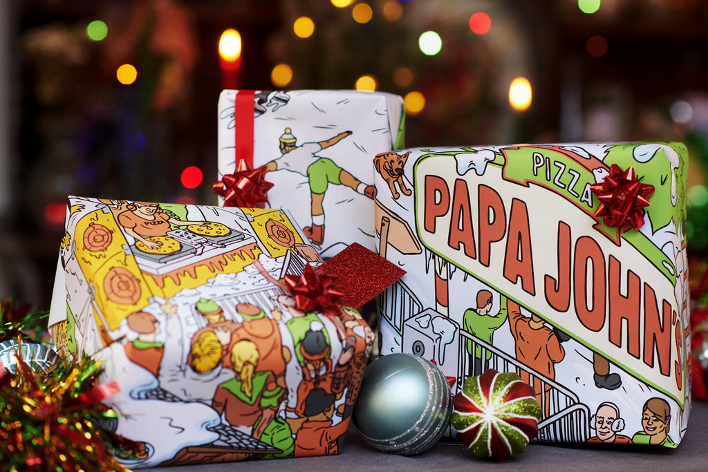 Pizza Scented Wrapping Paper 2m x 0.84m (Free UK Delivery)