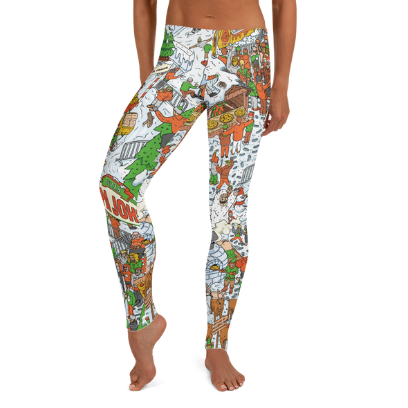 Festive Illustrative Leggings