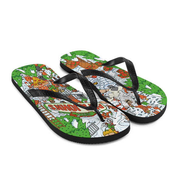 Festive Illustrative Flip-flops