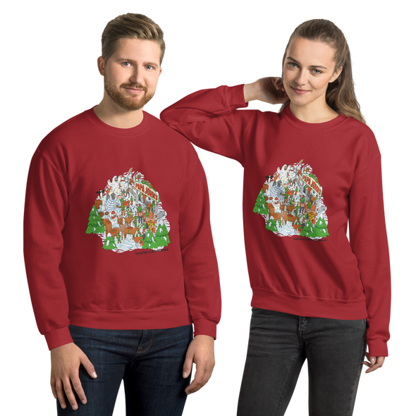 Festive Illustrative Sweatshirt