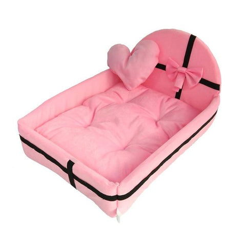 Pet Bed for small Dogs, Puppies, Cats has a Detachable Nest Soft Warm for Sleeping Cotton Mats Sofa