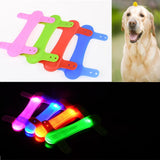 Security Warning Lights Silicone Straps For Dog Pet.  LED Light Glowing Bandage Dog Collar.