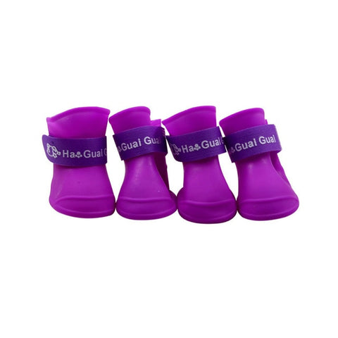 The Pet Dog Boots With Four Silicone Shoes