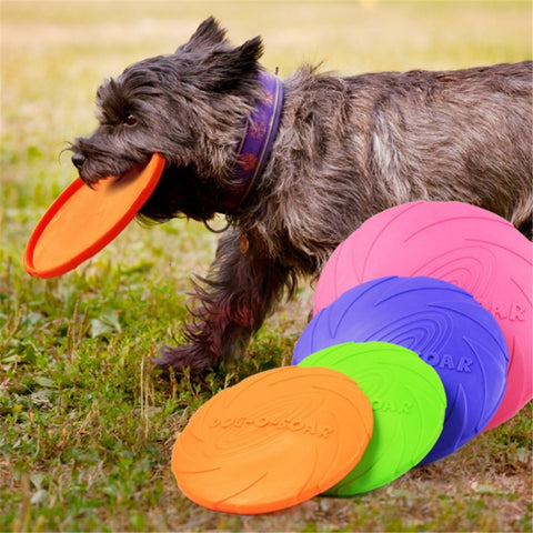 New Large Dog Flying Discs Trainning Puppy Toy Rubber Fetch Flying Disc Frisby 15cm 18cm 22cm