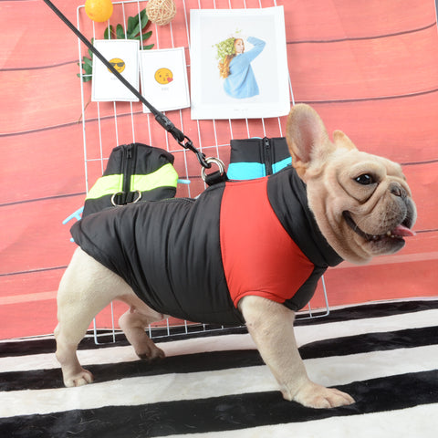 Waterproof French Bulldog Big Dog Vest Jacket