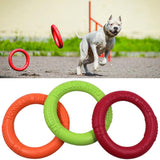 Dog Flying Discs Pet Training Ring Interactive Training