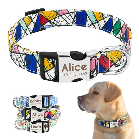 Dog Collar Personalized Nylon Customized