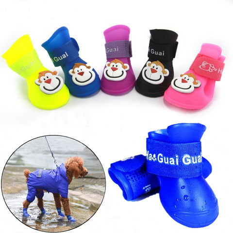 Dog Shoes Waterproof Anti-slip Rain