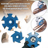High-Power 6-Blade Wood Carving Disc