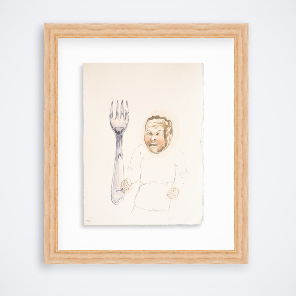 Fork With Angry Man - Original
