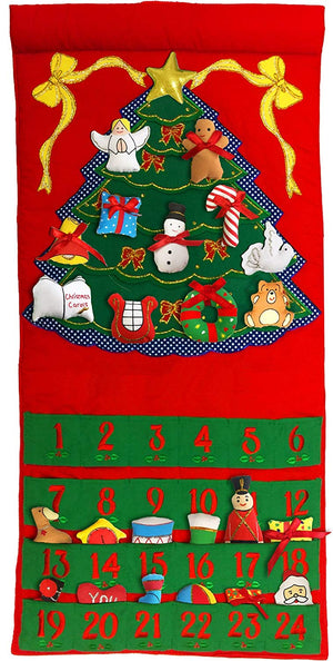 Fabric Christmas Tree Advent Calendar by Pockets of Learning