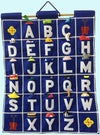 Pockets of Learning: ABC Wall Hanging - Blue