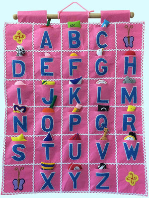 ABC Wall Hanging Pink - Pockets of Learning