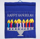 Happy Hanukkah Menorah Wall Hanging