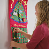 "Christmas Tree Advent Calendar With ""Merry Christmas"""