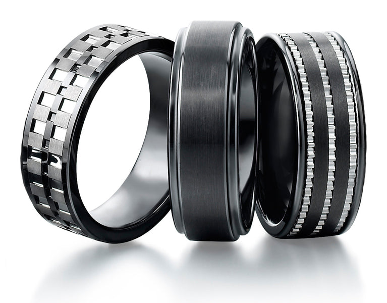 A Complete Men Tungsten Carbide Rings