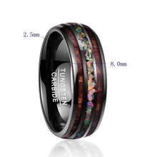 Load image into Gallery viewer, Opal Hawaii Koa Wood Komar Tungsten Carbide Ring
