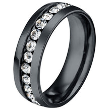 Load image into Gallery viewer, Black Gold Colorfull  Tungsten Carbide Ring