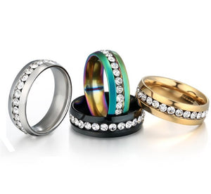 Black Gold Colorfull  Tungsten Carbide Ring