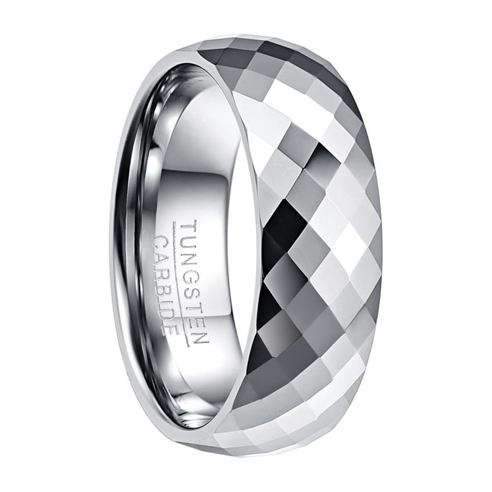 8mm Tungsten Carbide Ring