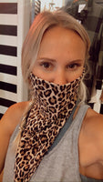 Double Layered Mask Scarf w/ear loops