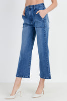 High Waisted Wide Leg Denim