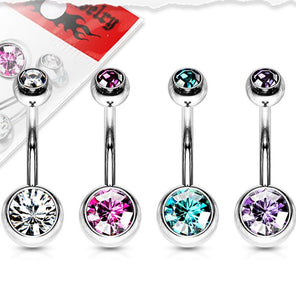 Belly Rings - Double Jewel