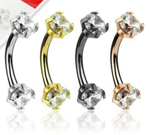 Curved Barbells - Jewelled