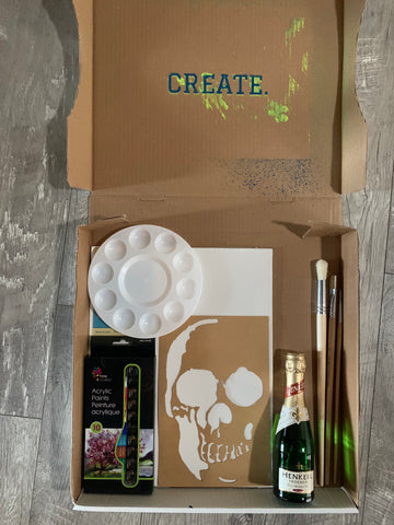 Customizable Paint Kit for Virtual Paint Party