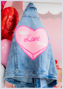 Self Love Club Hand Painted Jacket (Partnership w/ Social Babes Co)