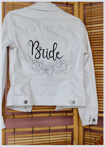 Hand Painted Customizable 'Bride' Jacket