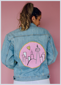 Special Valentine's Edition Love Toronto Hand Painted Jacket