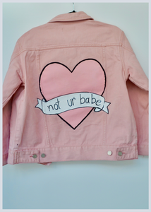 Not UR Babe Candy Heart Hand Painted Jacket