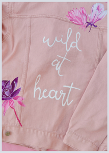 Wild At Heart Hand Painted Jacket