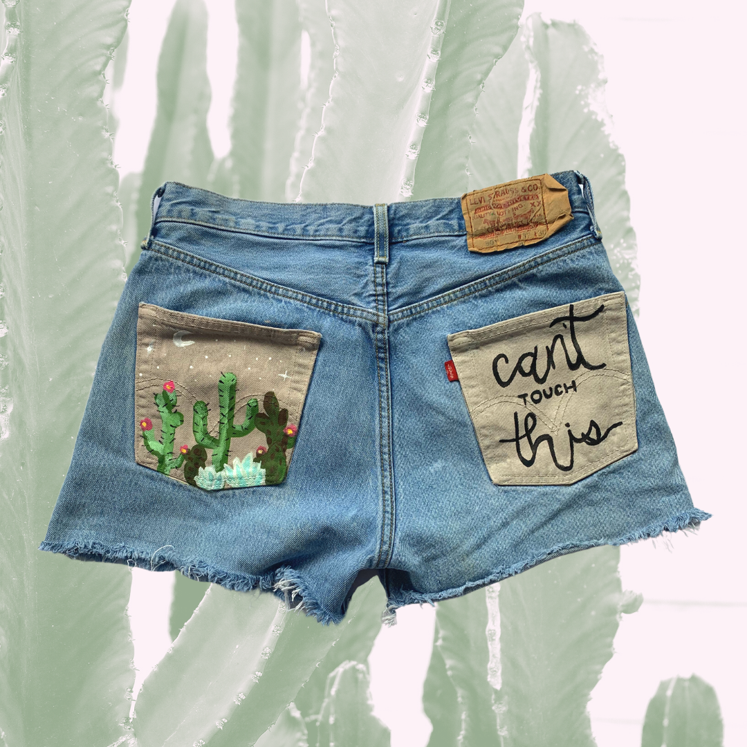 Can't Touch This High Rise Vintage Denim Shorts