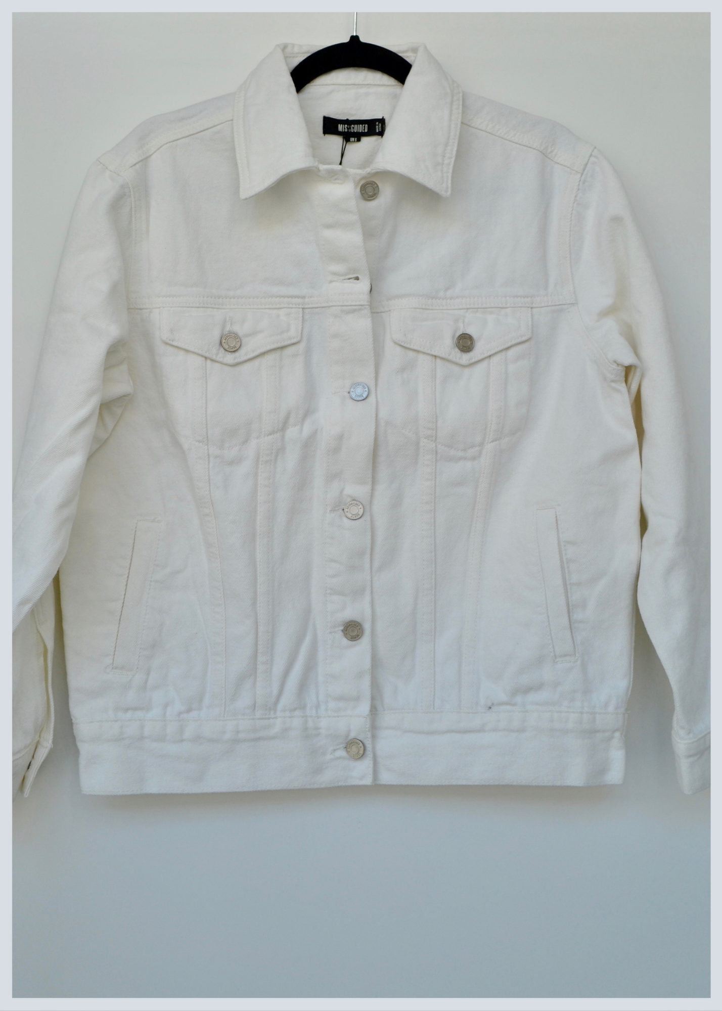 Missguided Daisy White Preloved Jacket